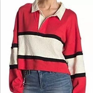 Free People Red Top Oversize